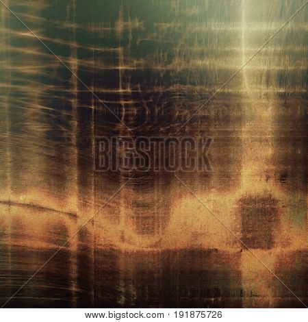 Old school elements on textured grunge background. With different color patterns: yellow (beige); green; brown; gray; black