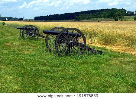 Civil War Battlefield Canons used in Gettysburg PA