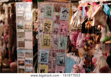 Cabedelo, Paraiba, Brazil - June 19, 2017 - Cordel Literature Are Popular And Inexpensively Printed
