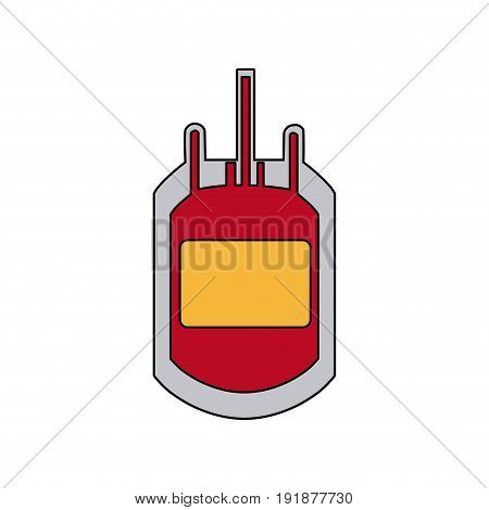plastic bag blood transfusion donation care vector illustration