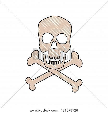 danger skull bones crossed medicine symbol vector illustration