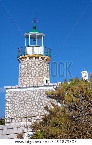 Skinari Lighthouse. Zakynthos Island, Greece