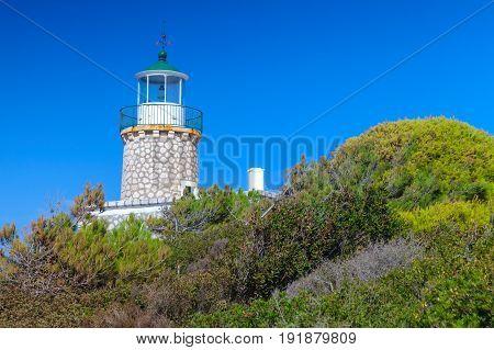 Skinari Lighthouse Located In Zakynthos