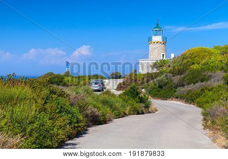 Skinari Lighthouse. It Was Built In 1897