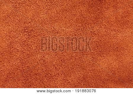 Orange suede texture, background, closeup long, fiber