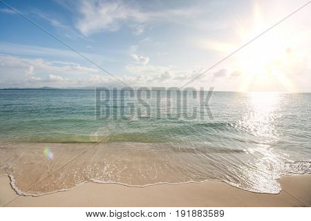 Water's edge on beach; Koh Pha Ngan; Thailand