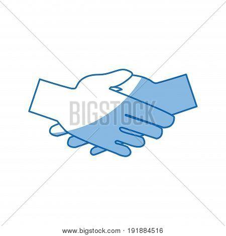 huma hand shake cooperation support vector illustration