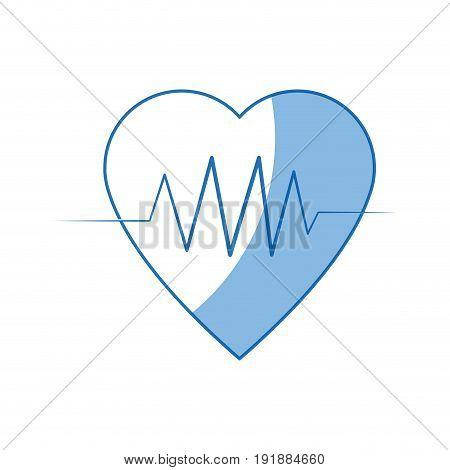 heartbeat heart pulse wellness care icon vector illustration