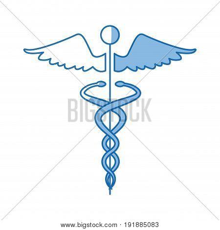 caduceus medical health care symbol vector illustration