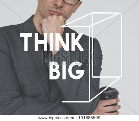 Think Big Ideas Creation Word Graphic