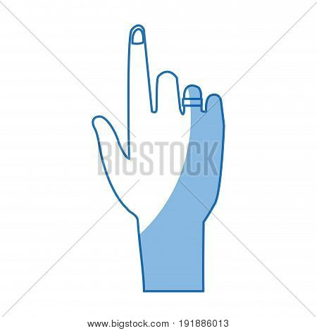 human hand pointing index gesture vector illustration