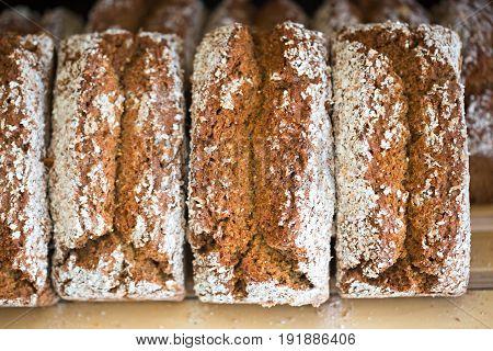Irish soda bread on shelf traditional Irish bakery