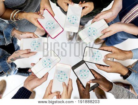 Illustration of global communication networking technology