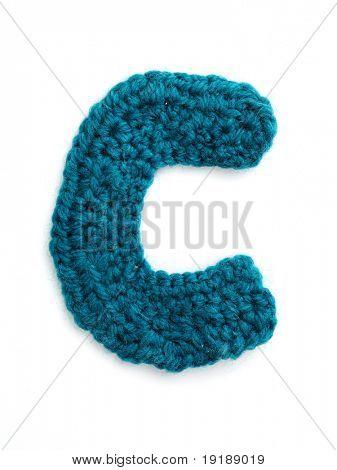 One letter of knit handmade alphabet