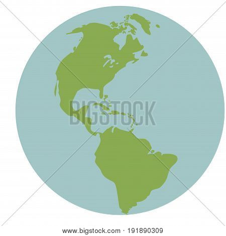 globe world earth map global continent vector illustration