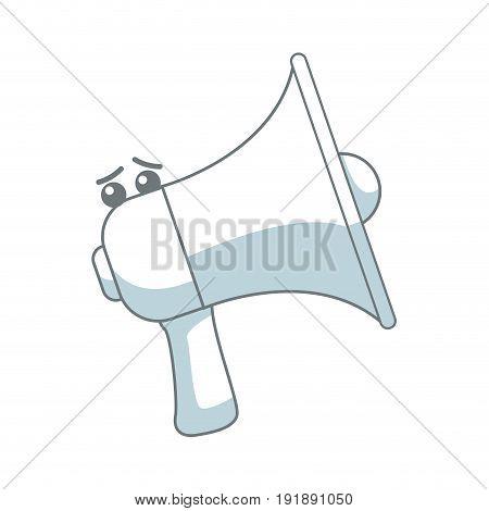 kawaii megaphone announce audio volume voice vector illustration