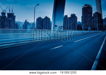 Empty asphalt urban street, shot in Shanghai,China.