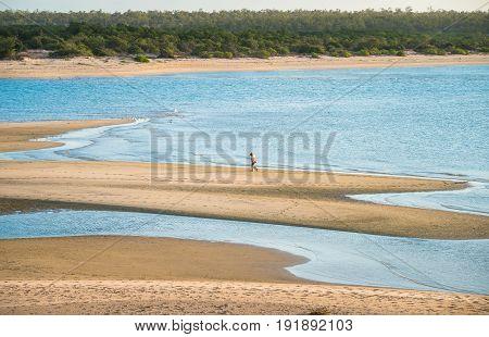 East Woody beach the famous beach of Nhulunbuy town of Gove Peninsula, Northern Territory, Australia.