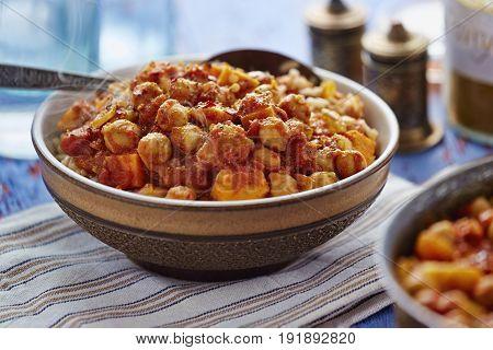 Spicy mango sweet potato vegan indian curry