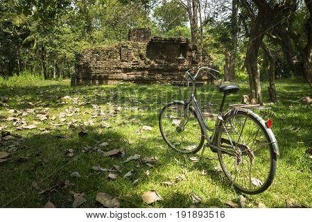 Exploring Ancient Temples By Bike, Anuradhapura, Sri Lanka