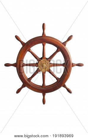 Beautiful vintage Wooden And Brass Ship's Steering Wheel  , Concept marine design
