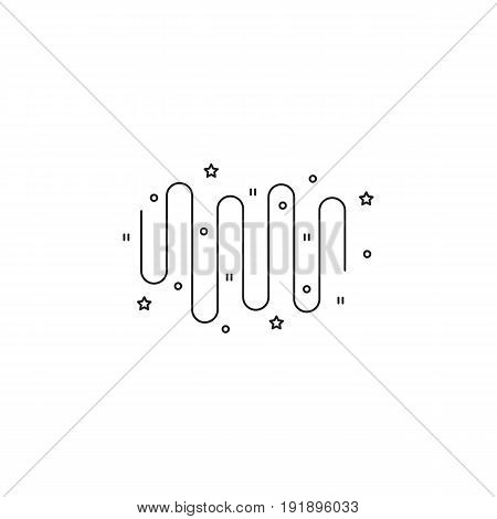 Northern Lights vector thin line icon. Black on white isolated symbol. Logo template, element for travel agency products, tour brochure, excursion banner. Simple mono linear modern design.