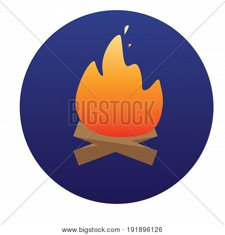 Campfire with firewood icon of vector illustration for web