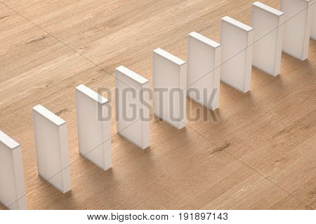 White Dominoes Standing