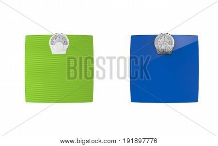 3d rendering weight scales on white background