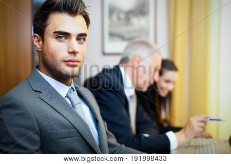 Businesspeople in their office