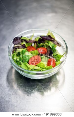 Ready Mixed Leafy Green Salad In A Bowl