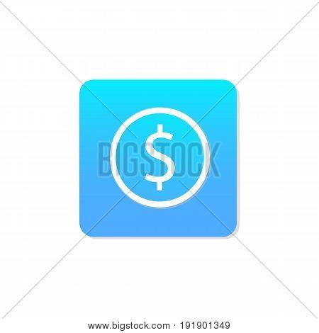 Flat money icon vector.Money sign icon vector