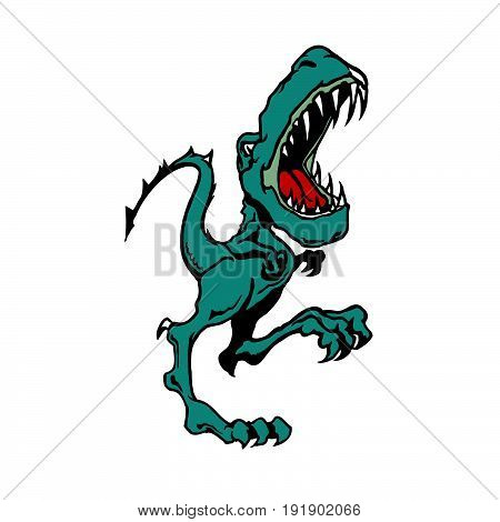 dinosaur cartoon. animal cartoon vector Illustration design
