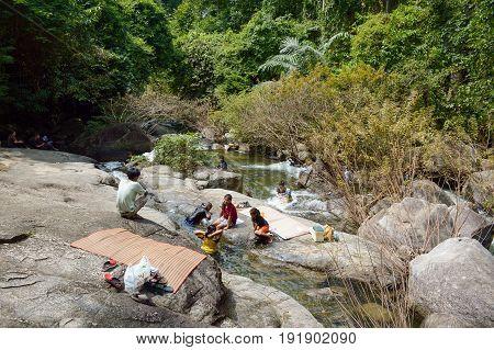 12 January 2017 : tourism in Chantathen waterfall , Chonburi , Thailand