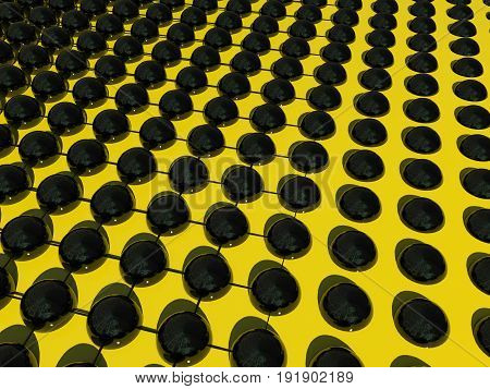 Abstract balls and grid for wallpaper or background, 3D rendering illustration.