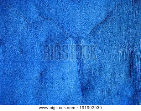 Blue textured surface. Blank cement canvas material