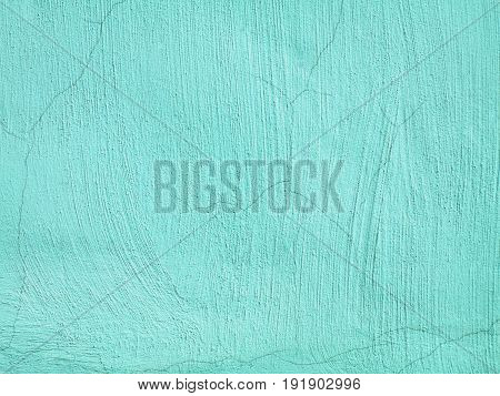 abstract background with aquamarine concrete texture wall