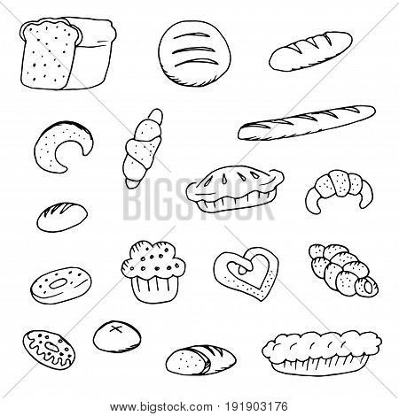 Doodle bread bread donuts bread and bagels