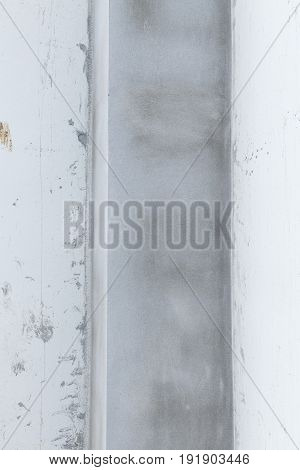 Pillar Cement Concrete And White Wall In Construction Building