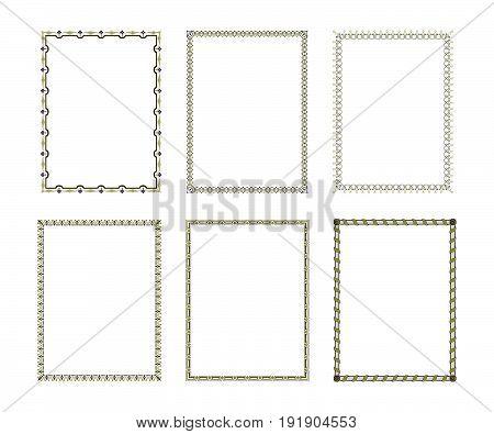 Set luxury decorative frame. Vector Illustration design
