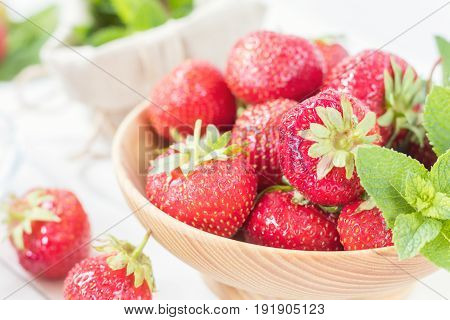 Fresh Strawberry And Summer Tea.