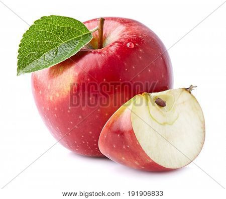 Fresh apple with slice