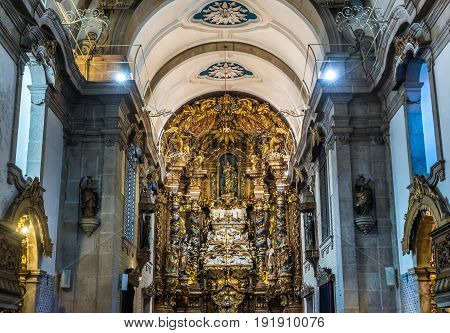Porto Portugal - December 8 2016: Church of Our Lady of Hope Church in Porto