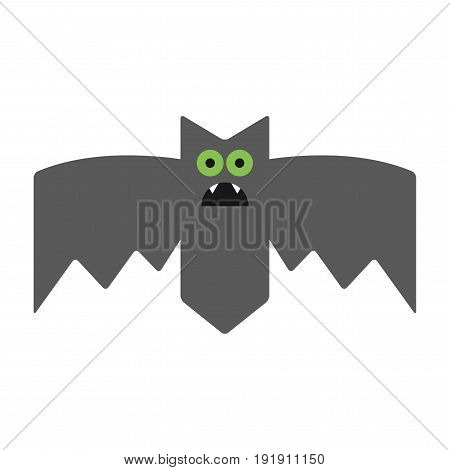 Bat. Emotional vampire, the character for Halloween. Vector illustration