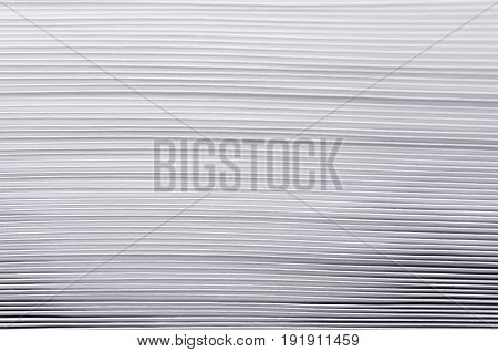 Striped rough white texture of pages paper with contrast gradient abstract background.