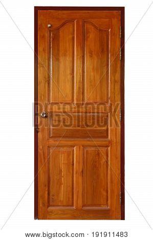 Wood Door Isolated On White Background