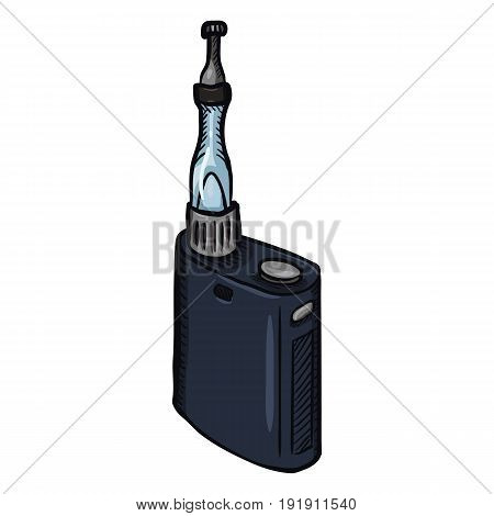 Vector Cartoon Single Electronic Cigarettes. Vape Equipment.