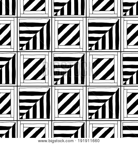 Abstract seamless pattern. Black and white illustration for coloring books, pages. Background for design