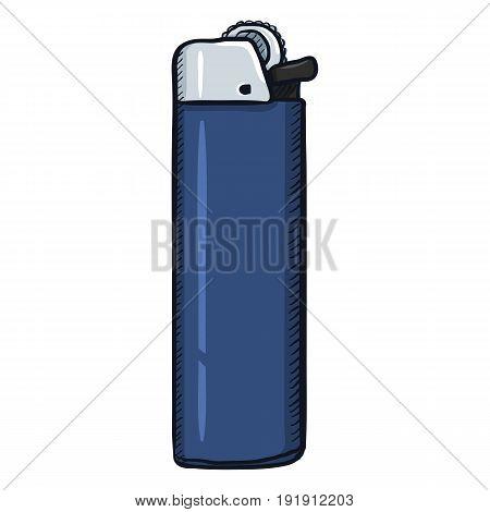 Vector Single Cartoon Blue Disposable Lighter