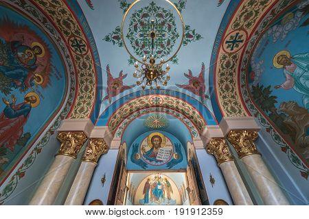 Riga Latvia - June 25 2016: Nativity of Christ Orthodox Cathedral in Riga